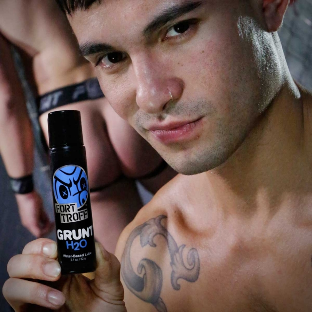 Grunt H2O Lube - A THICKER water based lube that LASTS 